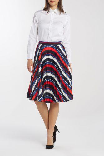 Gant Sukně Gant D1. Preppy Stripe Pleated Skirt 4401028-619-Gw-442-42 Modrá 42