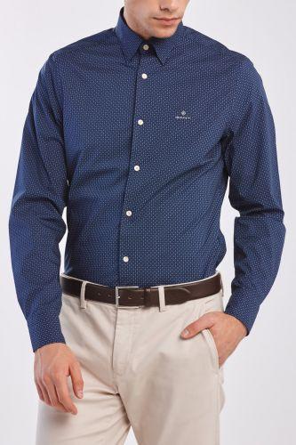 Gant Košile Gant D1. Tp Bc Micro Print Slim Hbd 3026732-320-Ga-423-S Modrá S