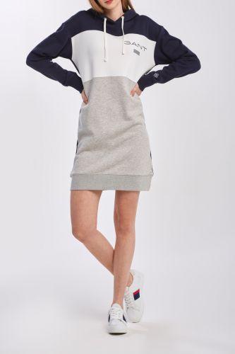Gant Šaty Gant D1. Gant Stripe Hoodie Dress 4204354-320-Gw-433-Xs Modrá Xs