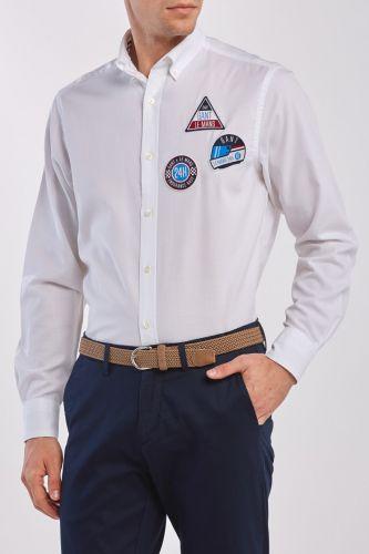 Gant Košile Gant Lm. Tp Oxford Badges Reg Bd 3026230-320-Ga-110-S Bílá S