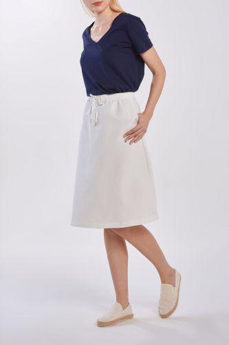 Gant Sukně Gant D2. Summer Linen Skirt 4400038-320-Gw-113-34 Bílá 34