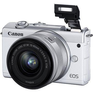 Canon EOS M200 + EF-M 15-45mm f/3.5-6.3 IS STM bílá
