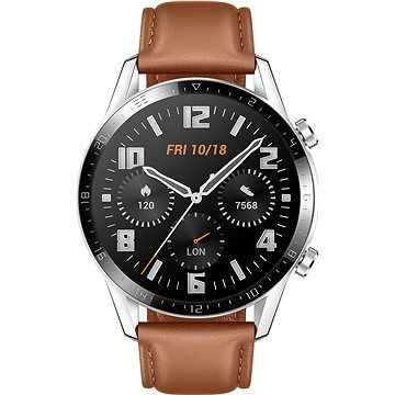 Huawei Watch GT 2 46 mm Brown Leather Strap cena od 4 590 Kč
