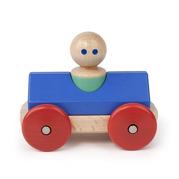 Magnetické autíčko TEGU - Blue Poppy Racer