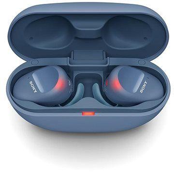 Sony True Wireless WF-SP800N, modrá cena od 5499 Kč