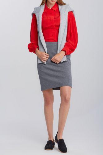 Gant Sukně Gant D1. Herringbone Jersey Skirt 4400042-620-Gw-93-34 Šedá 34