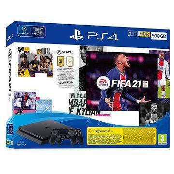 SONY PlayStation 4 Slim 500GB + FIFA 21 + 2x DualShock 4
