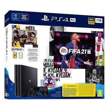 SONY PlayStation 4 Pro 1TB + FIFA 21 + 2x DualShock 4