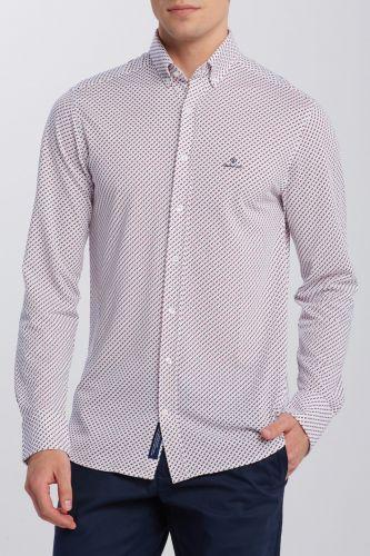 Gant Košile Gant D1. Tp Pique Print Reg Bd 3008860-620-Ga-110-S Bílá S