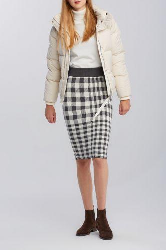 Gant Sukně Gant D2. Checked Knitted Skirt 4502029-620-Gw-95-S/M Šedá S/M