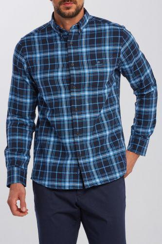 Gant Košile Gant D1. Tp Herringbone Plaid Reg Bd 3028430-620-Ga-445-M Modrá M