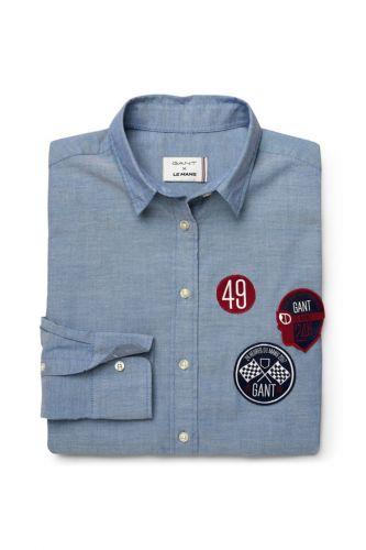 Gant Košile Gant Lm. Tech Prep Badge Oxford Shirt 432777-417-Gw-906-32 Modrá 32 cena od 1999 Kč