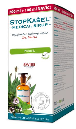 Simply You Pharmaceuticals STOPKAŠEL Medical sirup Dr.Weiss 200+100ml NAVÍC
