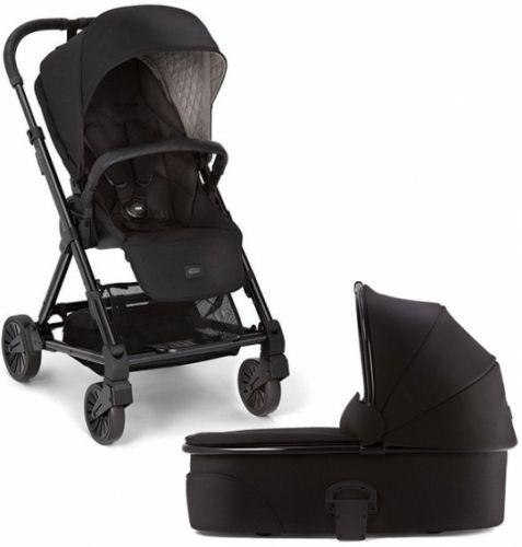 FOR BABY Mamas & Papas Urbo 2v1 Black (kočárek+korbička zdarma)