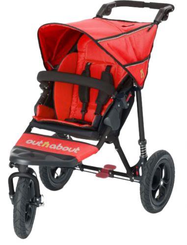Bohemia Baby OUTnABOUT NIPPER single kočár Red cena od 9089 Kč