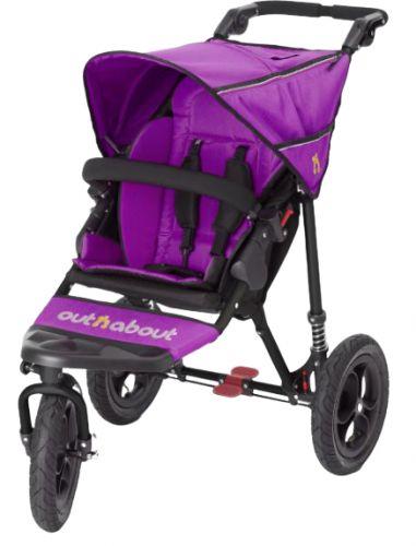 Bohemia Baby OUTnABOUT NIPPER single kočár Purple cena od 9089 Kč