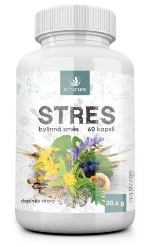 Allnature, s.r.o. Allnature Stres bylinný extrakt 60 kapslí