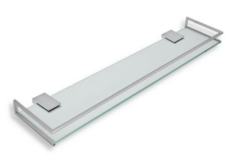 NOVASERVIS Novatorre 9 0953.0 polička se zábradlím 600mm sklo/chrom