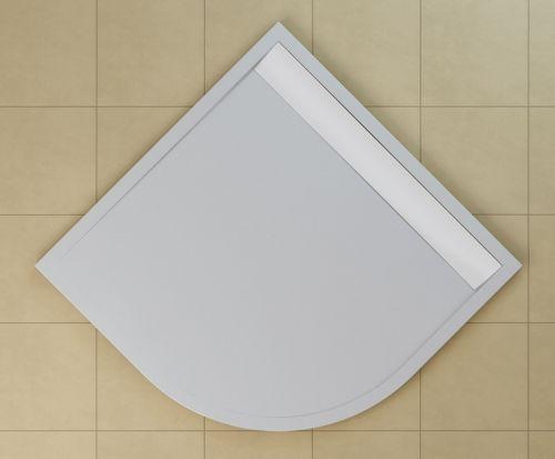 SanSwiss vanička ILA čtvrtkruh bílá 90x90x3 cm kryt bílý WIR550900404 WIR550900404