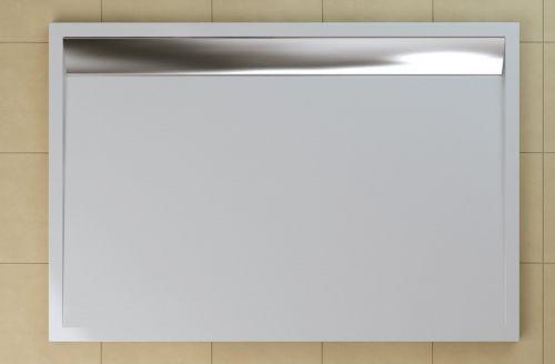 SanSwiss vanička ILA obdélník bílá 100x90x3,5 cm kryt aluchrom WIA901005004 WIA901005004