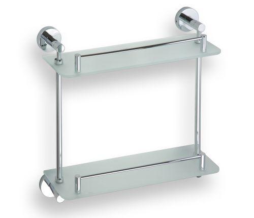 BEMETA OMEGA polička skleněná dvojitá 400 mm 104202122