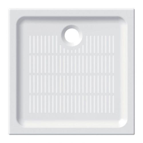 MEREO Čtvercová sprchová vanička, 80x80x6,5 cm, keramická CV77X