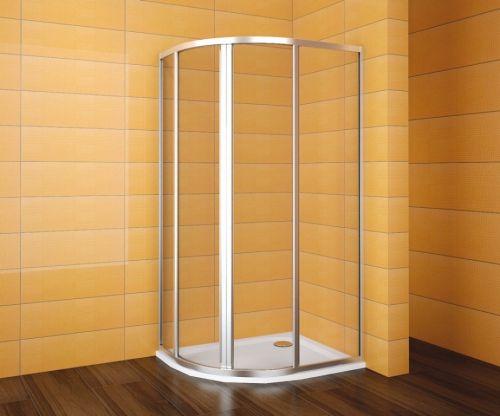 TEIKO sprchový kout čtvrtkruhový pro Virgo SKKH 2/100-80 R55 SKLO WATER OFF BÍLÝ 100x80x185 V331100N55T22011