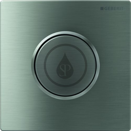 GEBERIT Sigma10 Ovládání splachování pisoárů, ovládací tlačítko typ 10, nerezová ocel 116.015.SN.1