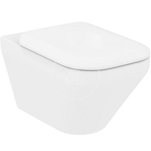 IDEAL STANDARD Tonic II Závěsné WC, 355x560x350 mm, Rimless, s Ideal Plus, bílá K3163MA