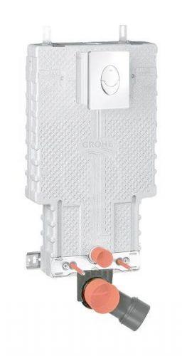 GROHE Uniset Předstěnový instalační modul, splachovací nádrž GD2, s tlačítkem Skate Air, chrom 38723001