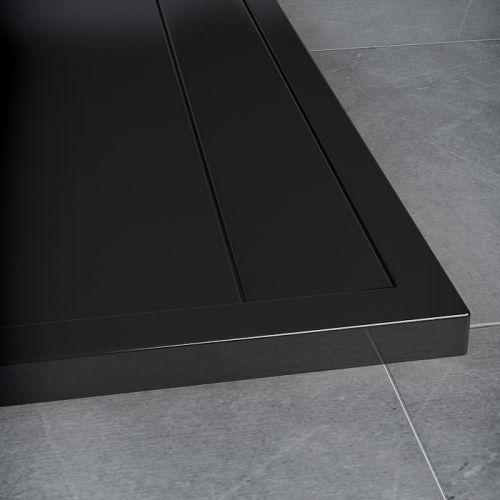 SanSwiss vanička ILA obdélník černý granit 160x90x3,5 cm kryt černý matný WIA9016006154 WIA9016006154