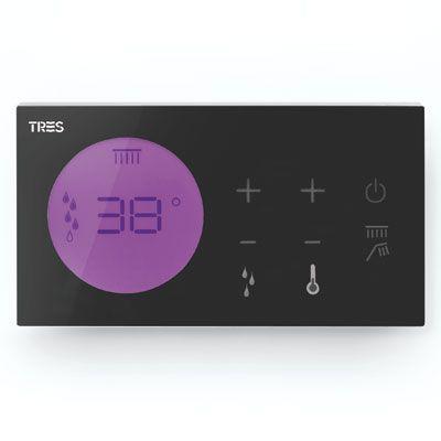 TRES Zapuštěné elektronické termostatické ovládání SHOWER TECHNOLOGY Včetně elektronického ovládání (černá barva). Zabud 09288299
