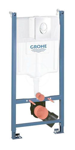 GROHE Rapid SL Předstěnový instalační prvek pro závěsné WC, nádržka GD2, ovládací tlačítko Skate Air, chrom 38745001