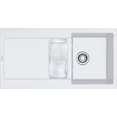 FRANKE Maris Fragranitový dřez MRG 651, 970x500 mm, bílá-led 114.0120.249
