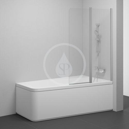 RAVAK 10° Vanová zástěna dvoudílná 10CVS2, pravá, 990x1500 mm, satin/transparentní sklo 7QRA0U03Z1