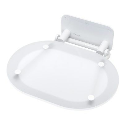 Ravak Ovo Chrome sprchové sedátko Clear/White B8F0000028