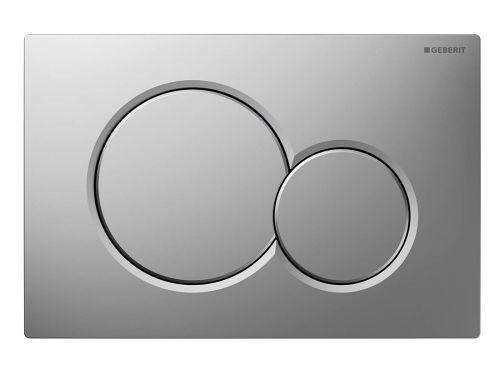 GEBERIT SIGMA01 ovládací tlačítko, pro 2 množství splachování, chrom mat 115.770.46.5