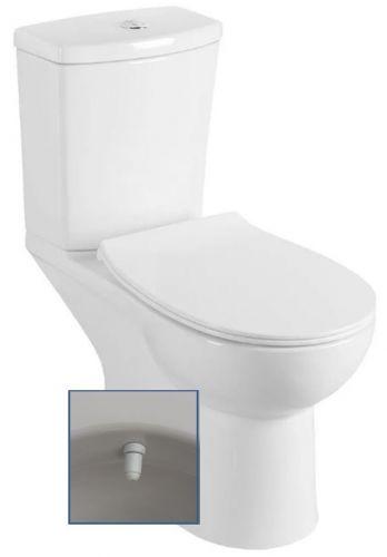 SAPHO KAIRO WC kombi s bidet. sprškou, zadní odpad, včetně splach. mechanismu, bílá PC106