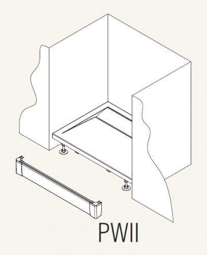 SanSwiss panel přední I pro obdélníkovou vaničku bílá 1100 mm PWII11004 PWII11004