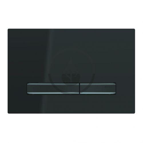 GEBERIT Sigma50 Ovládací tlačítko pro 2 množství splachování, černá/černý chrom 115.671.DW.2