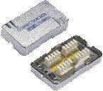 DATACOM Spojovací BOX STP CAT6 (2* zářez. pole) Silver