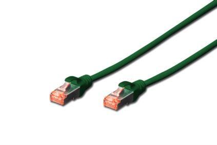 Digitus Patch Cable,S-FTP, CAT 6, AWG 27/7, LSOH, Měď, zelený 2m