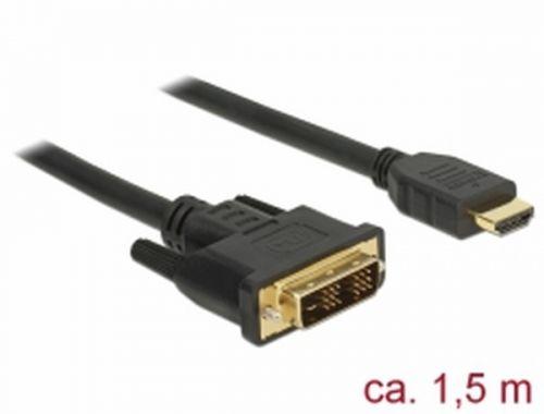 DELOCK 85583 Delock Kabel DVI 18+1 samec > HDMI-A samec 1,5 m černý