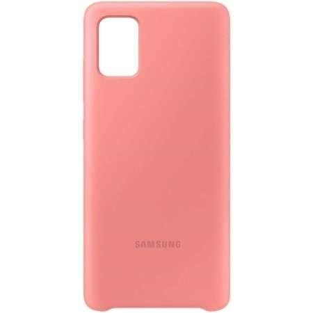 Samsung Silikonový kryt pro Galaxy A71 Pink