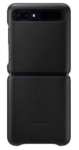 Samsung Kožený kryt pro Z Flip Black