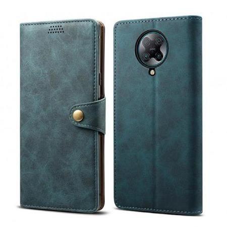 Lenuo Leather flipové pouzdro pro Xiaomi Redmi Note 8, modrá