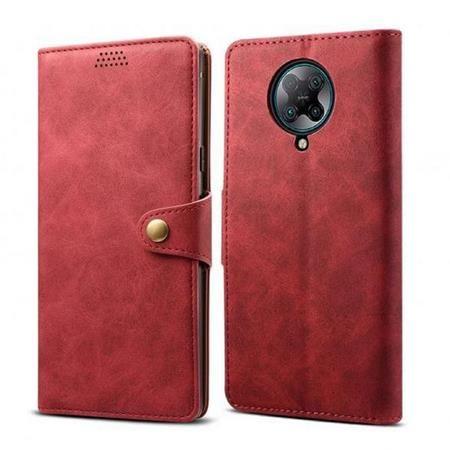 Lenuo Leather flipové pouzdro pro Xiaomi Redmi Note 8, červená