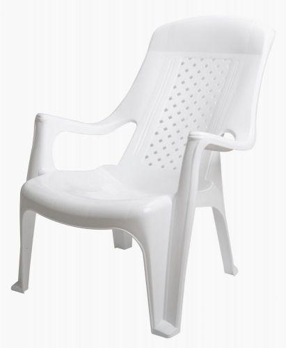 MEGA PLAST MP661 CLUB židle, 81x60x80, stohovovatelná, PP bílá