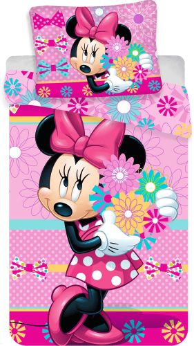 Jerry Fabrics Povlečení Minnie Bows and flowers 140x200 70x90