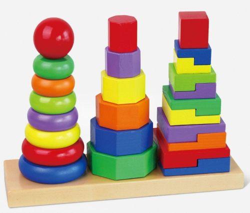 Viga Dřevěná pyramida 3v1